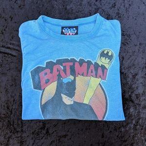 Junk Food Blue Batman Bat Symbol T-shirt